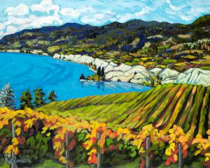 White Cliffs and Vineyards – Naramata