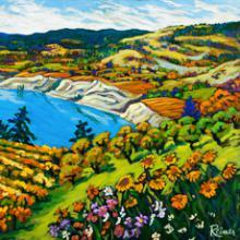 Vineyards and Sunflowers in Naramata Sunshine